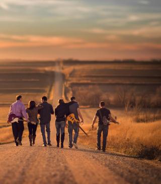 Music Band On Road - Obrázkek zdarma pro iPhone 4