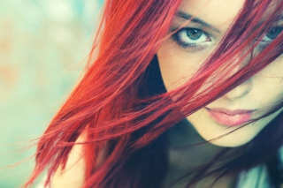 Redhead And Green Eyes Wallpaper for Android, iPhone and iPad