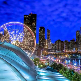 Chicago, Illinois, Navy Pier - Obrázkek zdarma pro 1024x1024