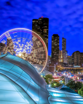 Chicago, Illinois, Navy Pier - Obrázkek zdarma pro Nokia Asha 303