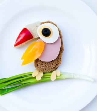 Happy Breakfast Parrot - Obrázkek zdarma pro Nokia X6