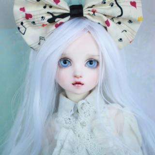 Blonde Doll With Big Bow - Obrázkek zdarma pro 128x128