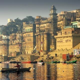 Varanasi City in India - Obrázkek zdarma pro 128x128