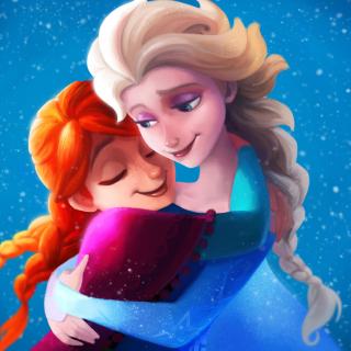 Frozen Sisters Elsa and Anna - Obrázkek zdarma pro 208x208