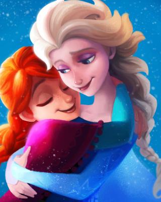 Frozen Sisters Elsa and Anna - Obrázkek zdarma pro 128x160