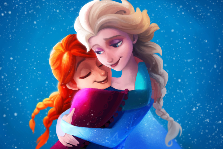 Frozen Sisters Elsa and Anna wallpaper