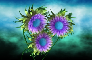 Free Purple Flowers Picture for Android, iPhone and iPad
