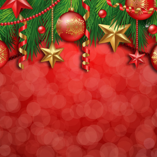 Red Christmas Decorations - Obrázkek zdarma pro 2048x2048