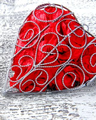 Red Heart - Obrázkek zdarma pro iPhone 5