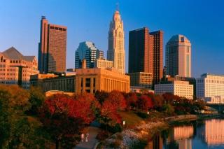Columbus Skyline, Ohio, USA - Fondos de pantalla gratis para Widescreen Desktop PC 1920x1080 Full HD