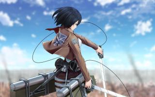 Mikasa Ackerman - Attack on Titan 1 - Fondos de pantalla gratis para Nokia Asha 201