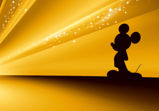 Mickey Mouse Disney Gold Wallpaper Picture for Android, iPhone and iPad
