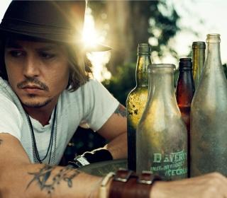 Johnny Depp Sunset Portrait - Obrázkek zdarma pro 320x320