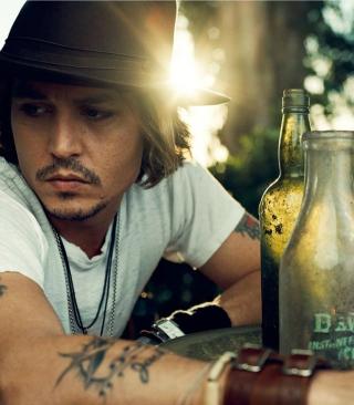 Johnny Depp Sunset Portrait - Obrázkek zdarma pro Nokia 206 Asha