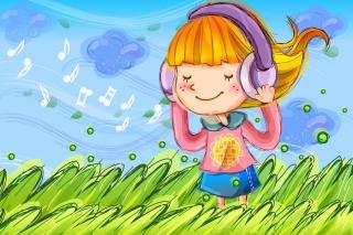 Cute Girl In Headphones - Fondos de pantalla gratis para LG E400 Optimus L3