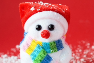 Free Cute Christmas Snowman Picture for Android, iPhone and iPad