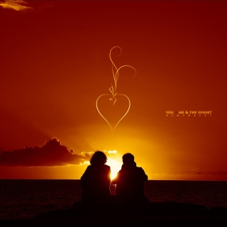 Sunset And Couples - Obrázkek zdarma pro 320x320