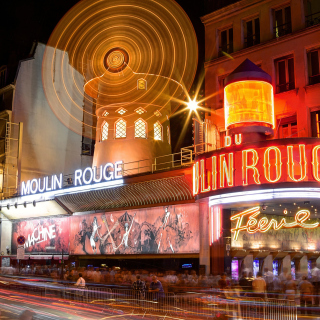 Moulin Rouge cabaret in Paris - Obrázkek zdarma pro 1024x1024