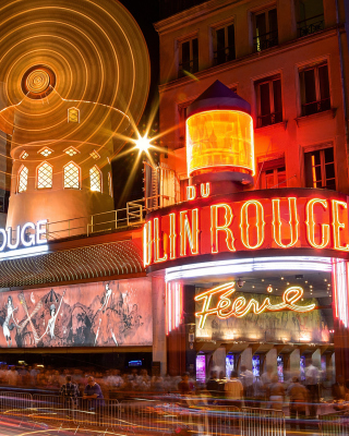 Moulin Rouge cabaret in Paris - Obrázkek zdarma pro Nokia Lumia 710