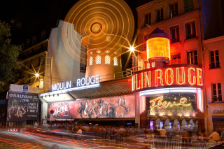 Moulin Rouge cabaret in Paris Picture for Nokia Asha 200