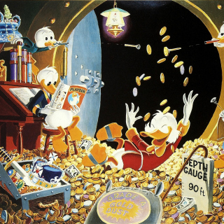 DuckTales and Scrooge McDuck Money - Obrázkek zdarma pro 128x128