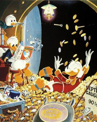 DuckTales and Scrooge McDuck Money - Obrázkek zdarma pro Nokia Asha 502
