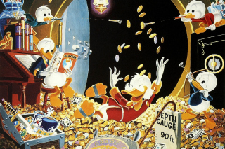 DuckTales and Scrooge McDuck Money - Obrázkek zdarma pro LG P500 Optimus One