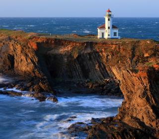 Cape Arago Lighthouse - Obrázkek zdarma pro 320x320