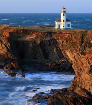 Cape Arago Lighthouse - Obrázkek zdarma pro Nokia Asha 308