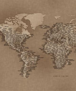 World Map - Obrázkek zdarma pro 240x400