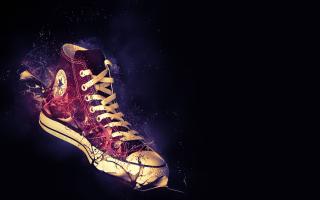 Red Converse - Obrázkek zdarma pro 1024x600