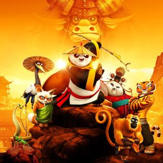 Kung Fu Panda 3 3D - Obrázkek zdarma pro 2048x2048