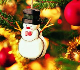 Christmas Snowman Craft - Obrázkek zdarma pro 128x128