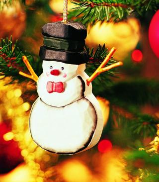 Christmas Snowman Craft - Obrázkek zdarma pro 480x800