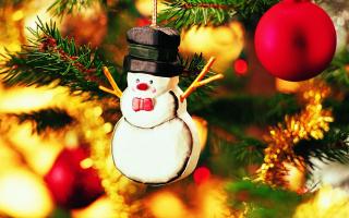 Christmas Snowman Craft - Obrázkek zdarma