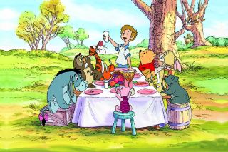 Kostenloses Winnie the Pooh Dinner Wallpaper für Android, iPhone und iPad