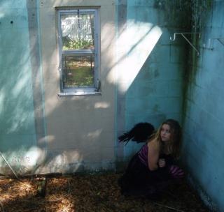 Black Angel Hiding - Obrázkek zdarma pro iPad