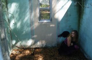 Black Angel Hiding - Obrázkek zdarma pro Motorola DROID 2
