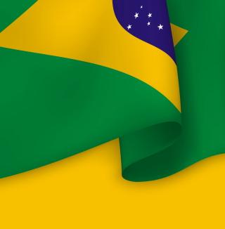 Brazil Flag - Obrázkek zdarma pro iPad Air