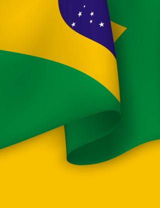 Brazil Flag - Obrázkek zdarma pro 352x416