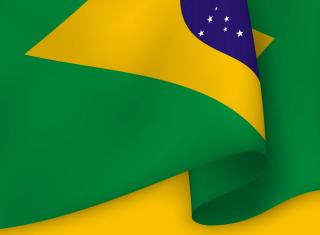 Brazil Flag - Obrázkek zdarma pro Desktop Netbook 1366x768 HD