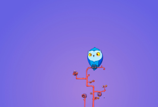 Cute Blue Owl Picture for Android, iPhone and iPad