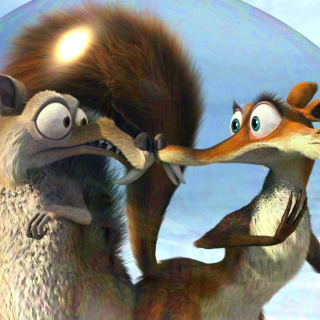 Ice Age Dawn of the Dinosaur Scrat And Scratte - Obrázkek zdarma pro iPad