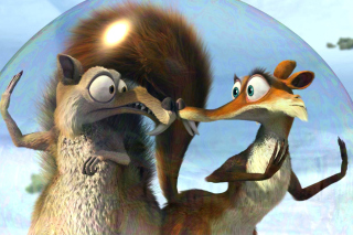 Ice Age Dawn of the Dinosaur Scrat And Scratte Background for Android, iPhone and iPad