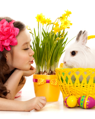 Girl and Rabbit - Obrázkek zdarma pro iPhone 6 Plus