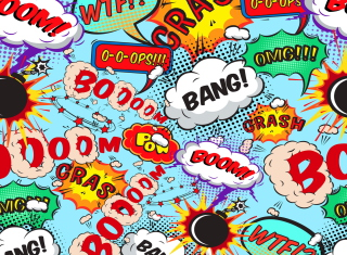 Expressions Crash Boom Bang Wallpaper for Android, iPhone and iPad