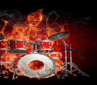 Skeleton on Drums - Obrázkek zdarma pro iPad Air