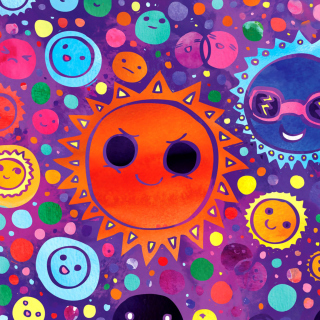 Funny Suns - Obrázkek zdarma pro iPad mini