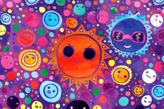 Funny Suns - Obrázkek zdarma pro Nokia C3