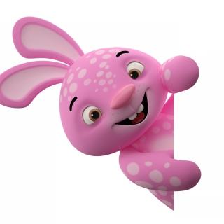 3D Pink Rabbit - Obrázkek zdarma pro iPad mini